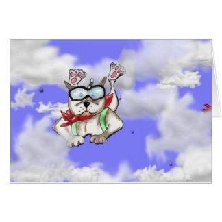 STAFFIE SOURIT - plongeur de ciel - carte de voeux