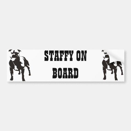 Staffy à bord adhésifs pour voiture