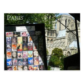 Stalle marchande près de Notre Dame Carte Postale