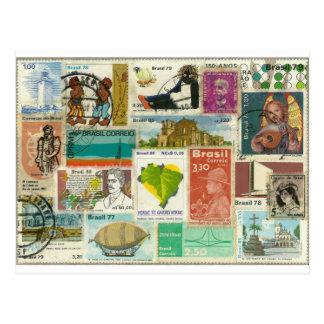 Stamp-themed Postcard Carte Postale