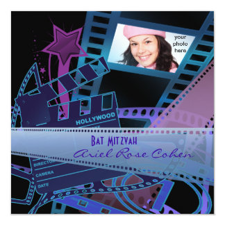 Star de Hollywood pourpre de photo de bat mitzvah Bristols Personnalisés