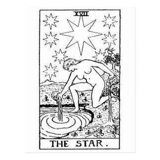 Star de tarot ' carte postale