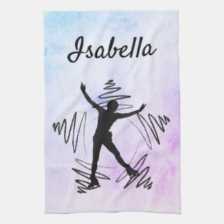 Star Figure Skater Towel blade black purple