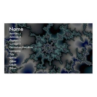 Starburst bleu-vert abstrait carte de visite standard