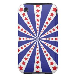 Starburst patriotique coques tough iPhone 3