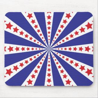 Starburst patriotique tapis de souris