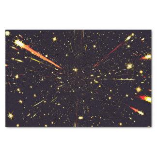 Starbursts de cosmos de l'espace de papier de soie