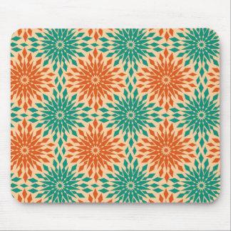 Starburt génial Teal et conception orange Tapis De Souris
