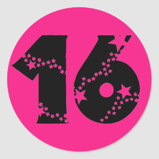 Starry Super Sweet 16 Stickers