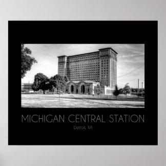 Station de central du Michigan Affiches