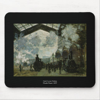 Station de Lazare de saint par Claude Monet Tapis De Souris