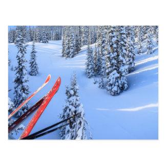 Station de sports d'hiver en cristal de montagne, cartes postales