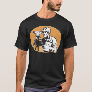 Station de total de théodolite d'ingénieur t-shirt