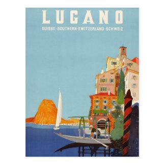 Station de vacances italienne vintage Suisse de Carte Postale
