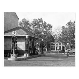 Station service 1925 carte postale