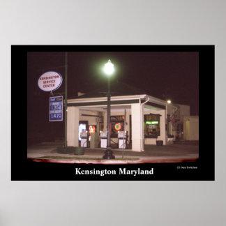 Station service de Kensington Poster