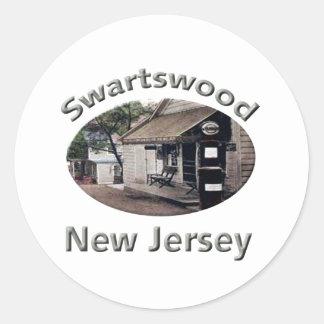 Station service de Swartswood Sticker Rond