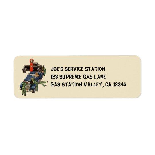 Station service du service complet de Joe, Étiquettes D'adresse Retour