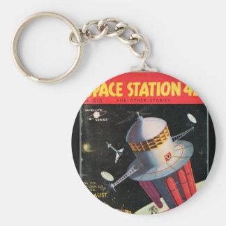 Station spatiale 42 et tout autre art de porte-clé rond