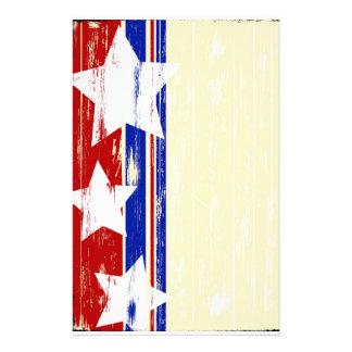 Stationnaire en bois patriotique papier à lettre customisable