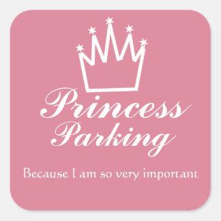 Stationnement de princesse sticker carré