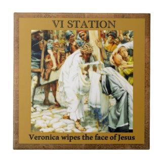 Stations de la croix #5 de Veronica 15 Petit Carreau Carré