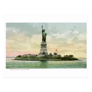 """""""Statue affiche vintage de liberté"""". New York. Carte Postale"""