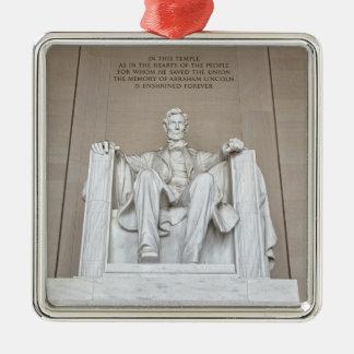 Statue d'Abraham Lincoln Ornement Carré Argenté