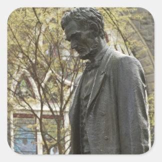 Statue d'Abraham Lincoln, Portland, Orégon Sticker Carré