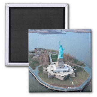 statue d'aimant de liberté magnet carré