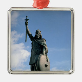 Statue d'Alfred le grand Ornement Carré Argenté