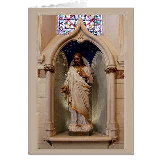 Statue dans la chapelle de Loretto Carte De Vœux