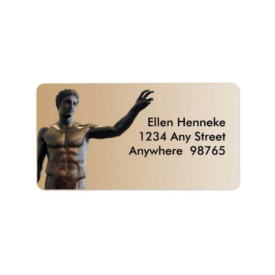Statue d'Antikythera Étiquette D'adresse