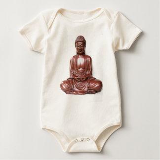Statue de Bouddha - rouge foncé, minimal Body