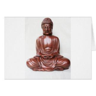 Statue de Bouddha - rouge foncé, minimal Carte De Vœux