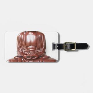 Statue de Bouddha - rouge foncé, minimal Étiquette À Bagage