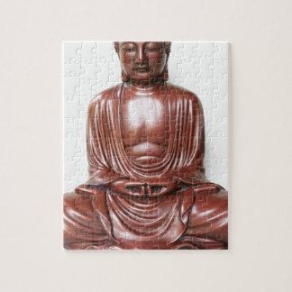 Statue de Bouddha - rouge foncé, minimal Puzzle