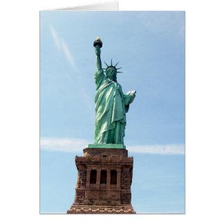 Statue de carte de voeux de liberté