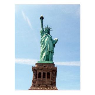 Statue de carte postale de liberté