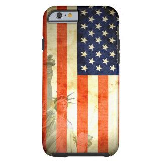 Statue de cas de l'iPhone 6 de drapeau américain d