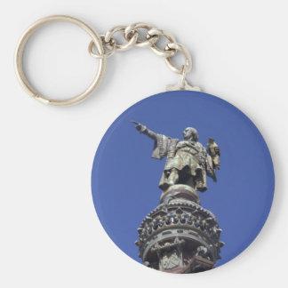 Statue de Columbus, Barcelone Porte-clé Rond