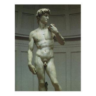 Statue de David par Michaël Angelo Carte Postale