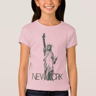 Statue de débardeur de New York de la fille de