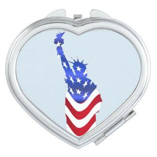 Statue de drapeau des Etats-Unis de miroir de Miroirs De Maquillage