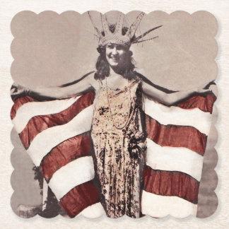 Statue de la fille c1921 de liberté dessous-de-verre en papier
