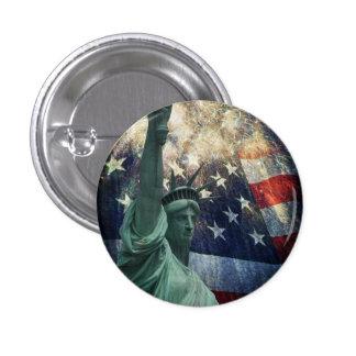 Statue de la liberté badge rond 2,50 cm