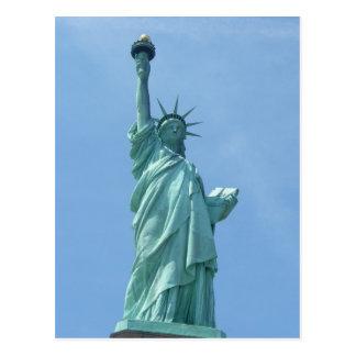 Statue de la liberté - carte postale de plan