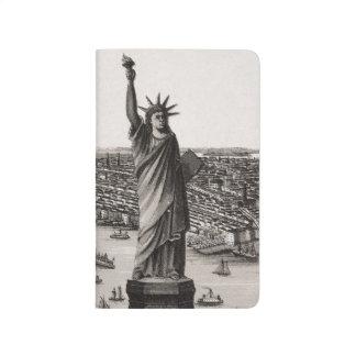 Statue de la liberté dans le port de New York Carnet De Poche