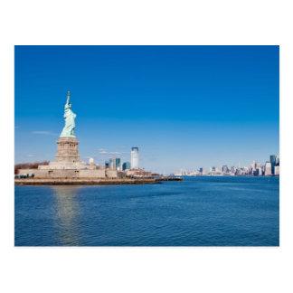 Statue de la liberté, du fleuve Hudson et de Manha Cartes Postales
