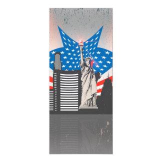 Statue de la liberté carton d'invitation  10,16 cm x 23,49 cm
